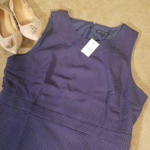Mercantile Navy Blue Polka Dot Midi Dress Size 16